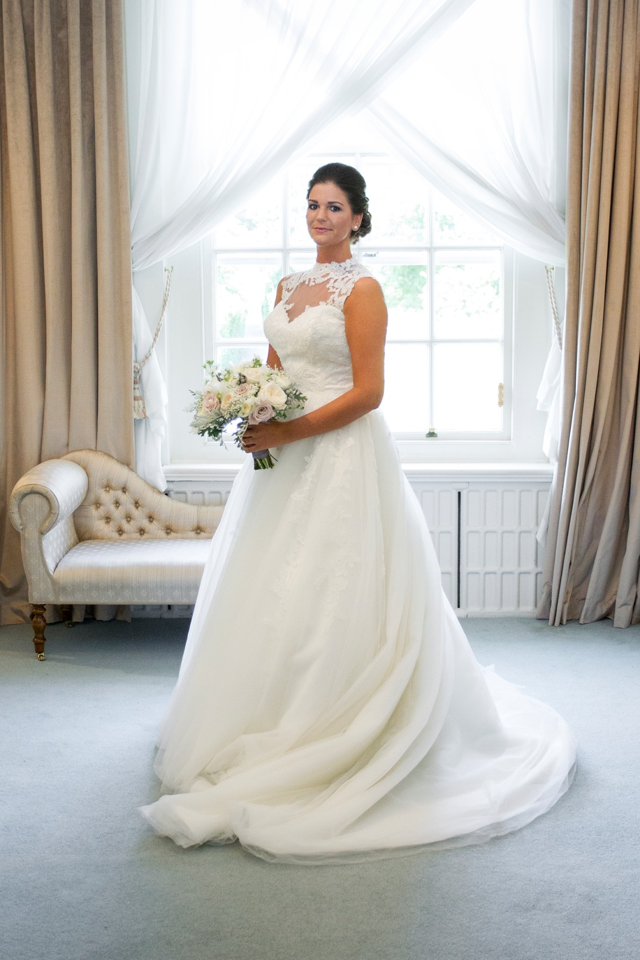 Beautiful Bride and wedding photographs at Northcote House