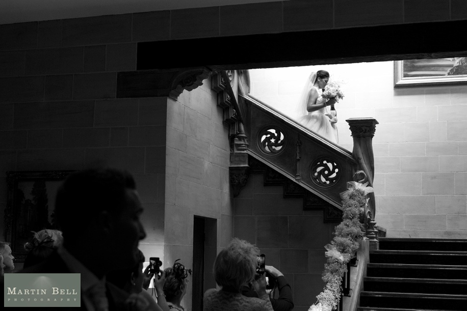 Bride's entrance at a Northcote House wedding