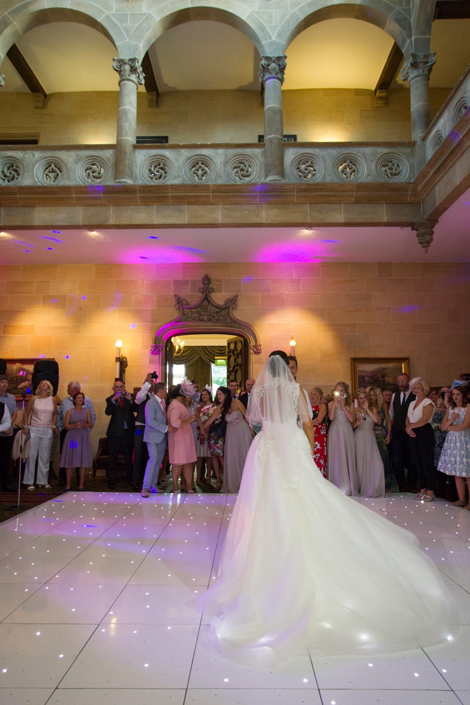 First dance at a Northcote House wedding