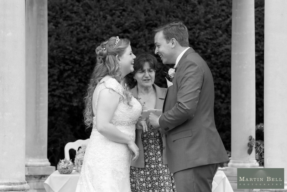 Wedding photography at Rhinefield House during an outdoor ceremony