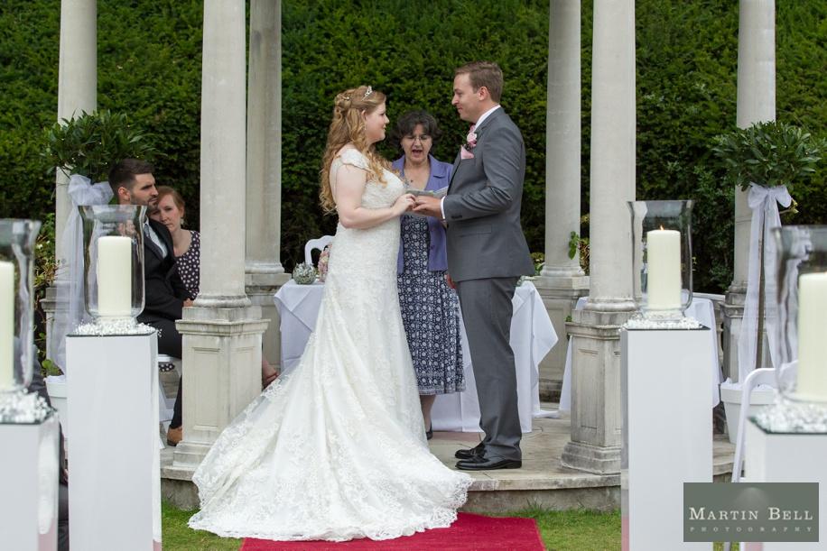 Rhine field House wedding - outdoor ceremony