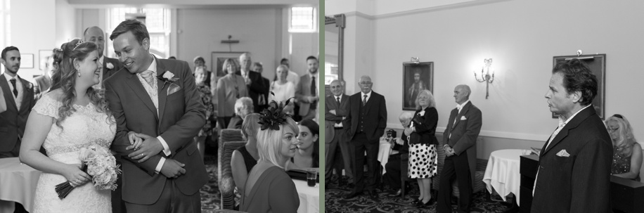 Bride and Groom surprise opera singer at Rhinefield House - Documentary wedding photographer