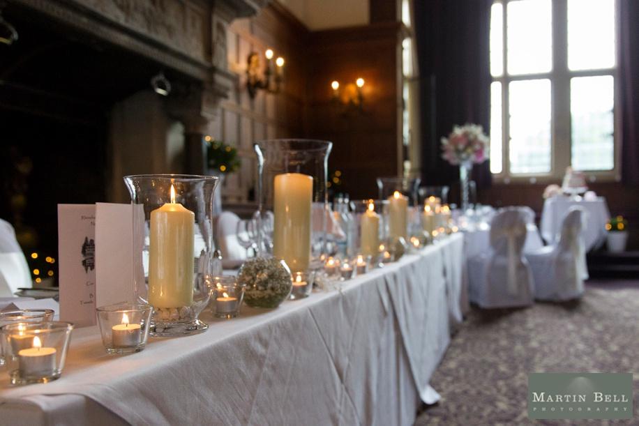 Rhinfield House wedding breakfast ideas - Candles