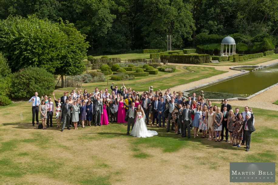 Rhinefield House wedding photography - big group photographs of all guests