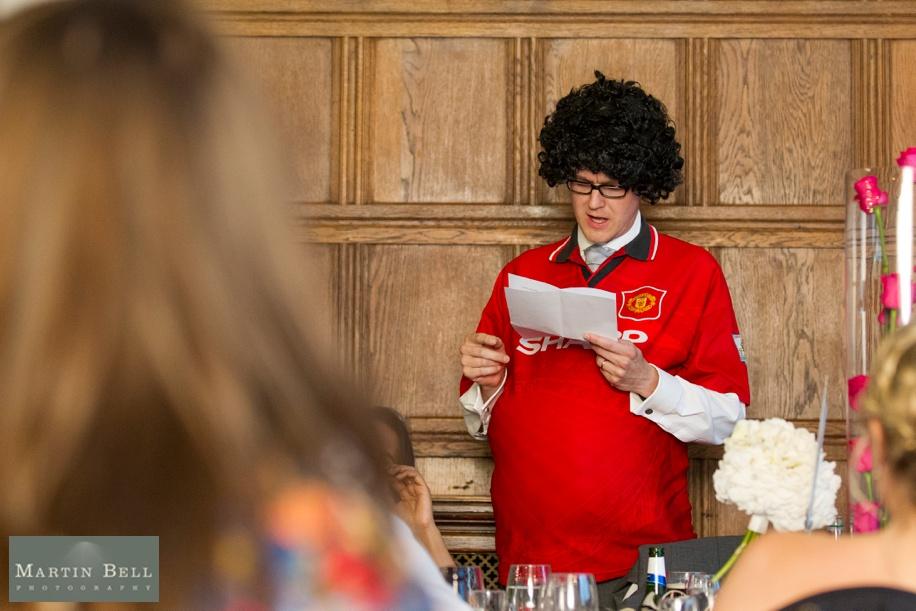 Rhine field House wedding photographs - Grand Hall speeches - cool best man speech ideas