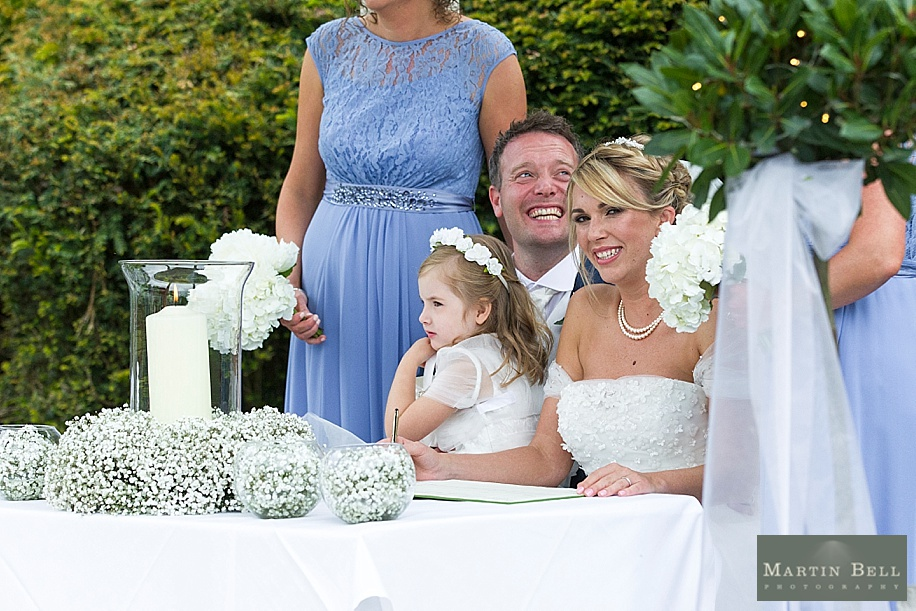 Rhine field House wedding photography - new forest outdoor ceremony  - Martin Bell Photography