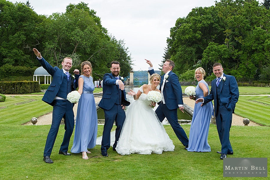 Rhinefield House wedding photography - fun group photographs of family and bridal party