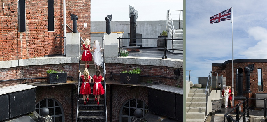 Documentary wedding photography at Spitbank Fort by Martin Bell Photography