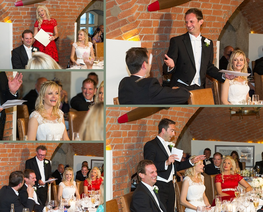 Chic and elegant Spitbank Fort Wedding by Martin Bell Photography - speeches