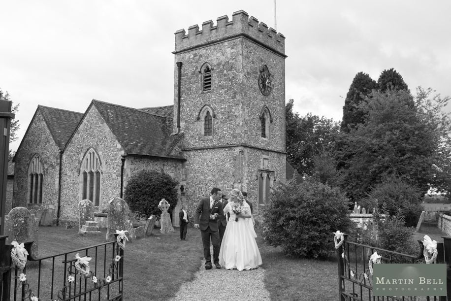 Wedding ceremony at St Andrews Church in Owslebury by Martin Bell Photography