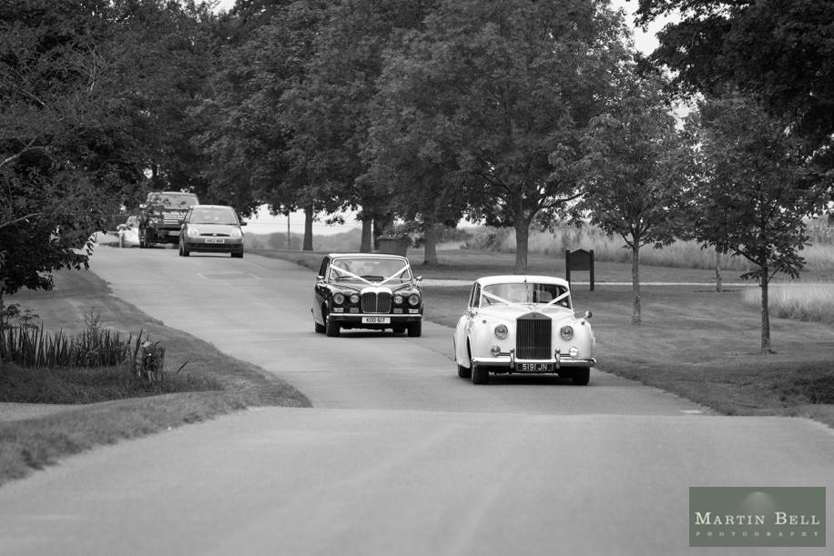 Wedding cars arriving at East Horton Golf Club wedding