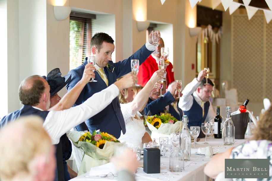 Wedding speeches at East Horton Golf Club