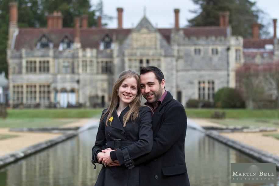 Stunning Rhinefield House engagement photographs