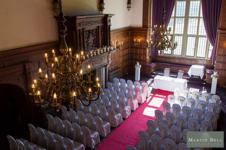 The Grand Hall at a RHinefield House wedding