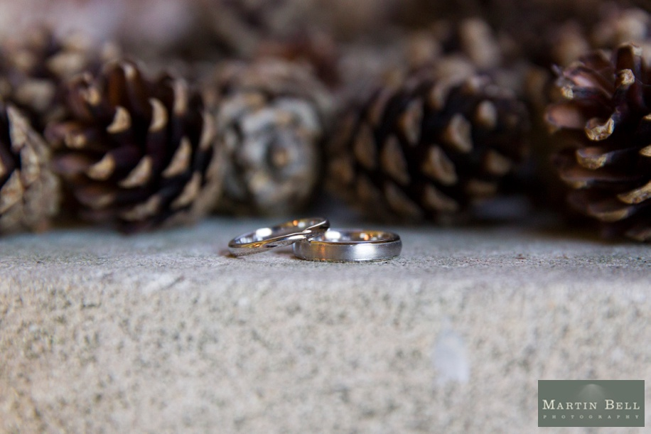 Wedding rings at Rhinefield House