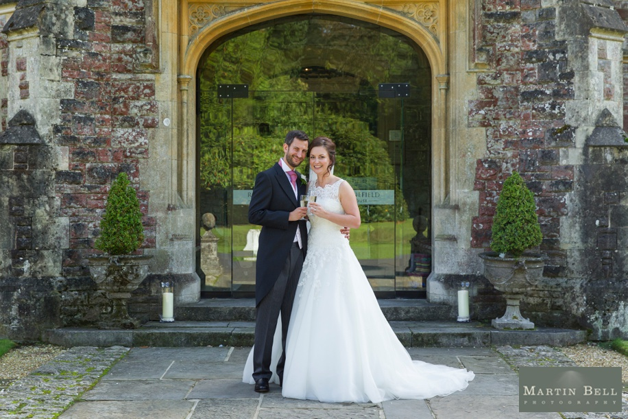 Stunning Bride and Groom wedding photographs at Rhinefield House