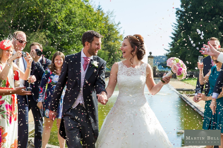 Confetti photograph at Rhinefield House