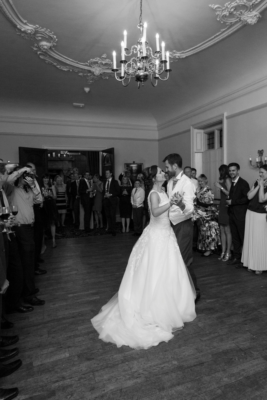 Bride and Groom during their first dance at Rhinefield House