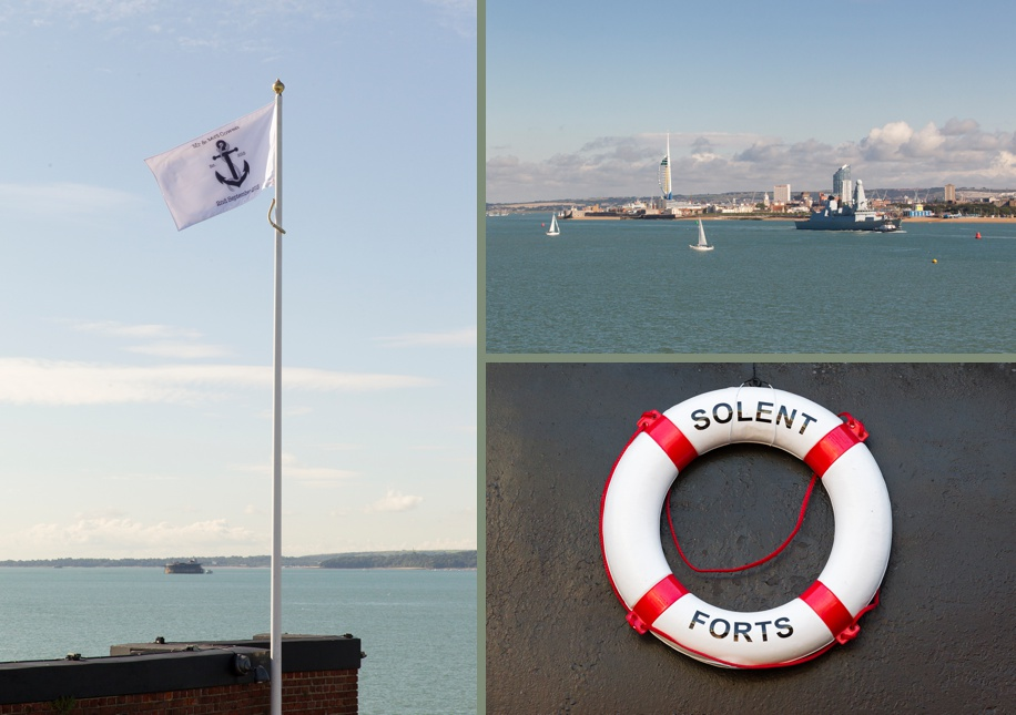 Details for a wedding at Spitbank Fort - personalised wedding flag ideas
