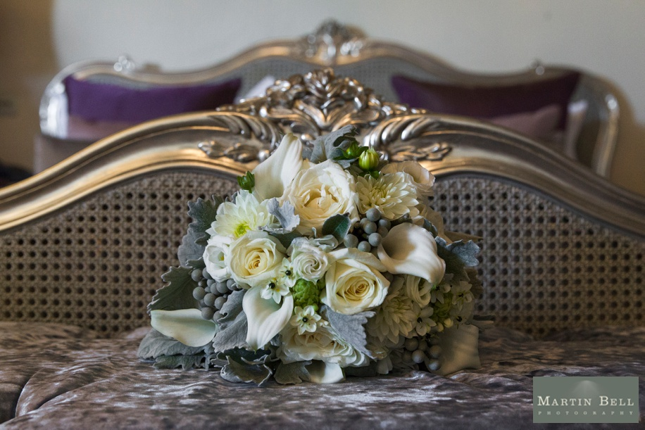 Blue and Cream wedding bouquet ideas - Spitbank Fort