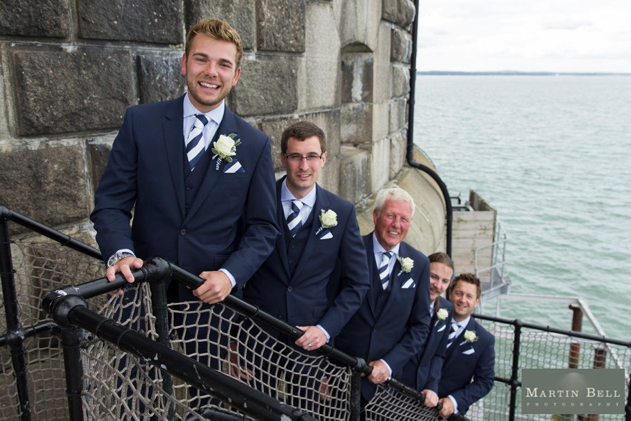 Cool Groomsmen photographs at Spitbank Fort