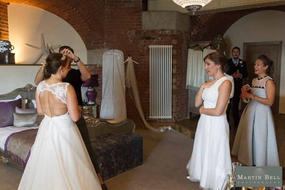 Documentary wedding photography at a Spitbank Fort wedding