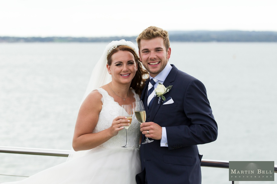 Spitbank Fort wedding photography - Bride and Groom - Martin Bell Photography