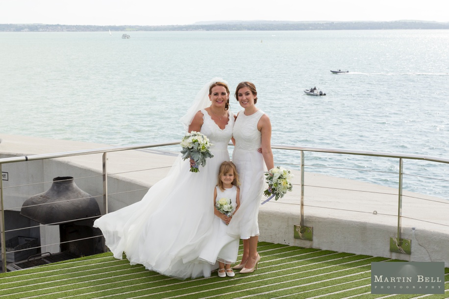 Spitbank Fort wedding - Family group photographs