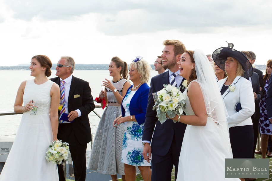 Wedding ideas at Spitbank Fort - Air-o-batics show