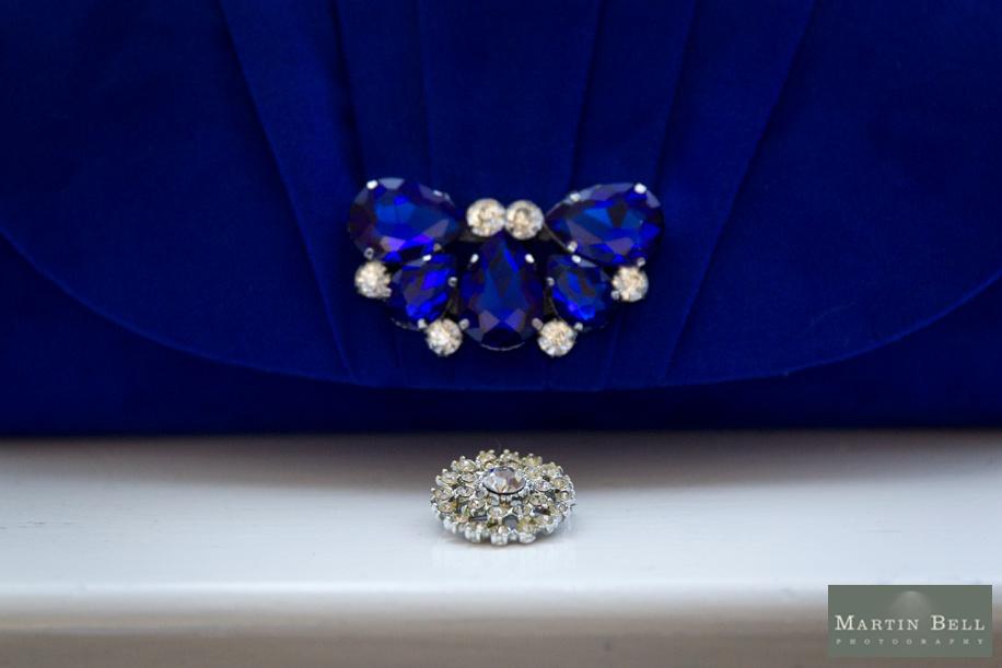 royal blue wedding accessory ideas