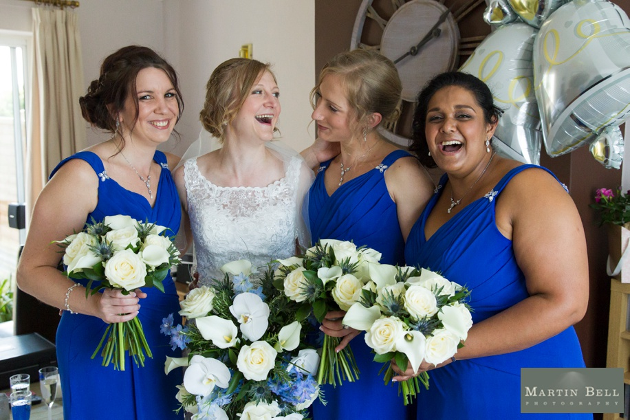 Happy Bride with her Bridesmaids