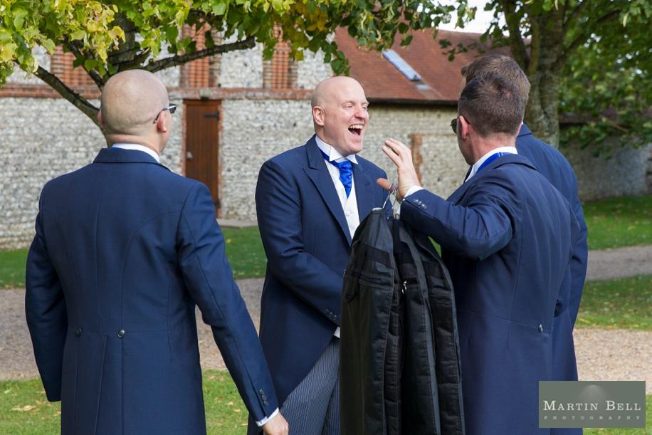 Documentary wedding photography at a Tithe Barn wedding
