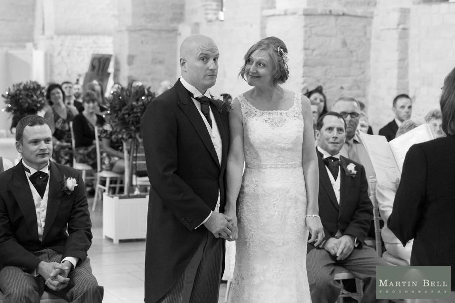 Documentary wedding photography at Tithe Barn