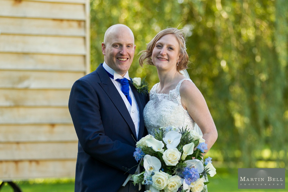 Bride and Groom photograph at Tithe Barn