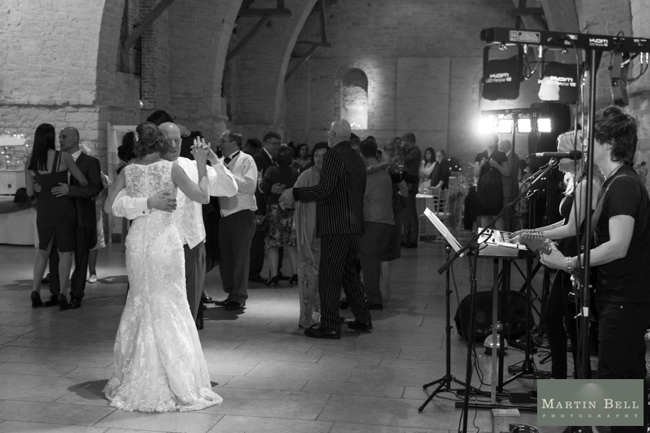 First dance wedding photographs at Tithe Barn in Hampshire