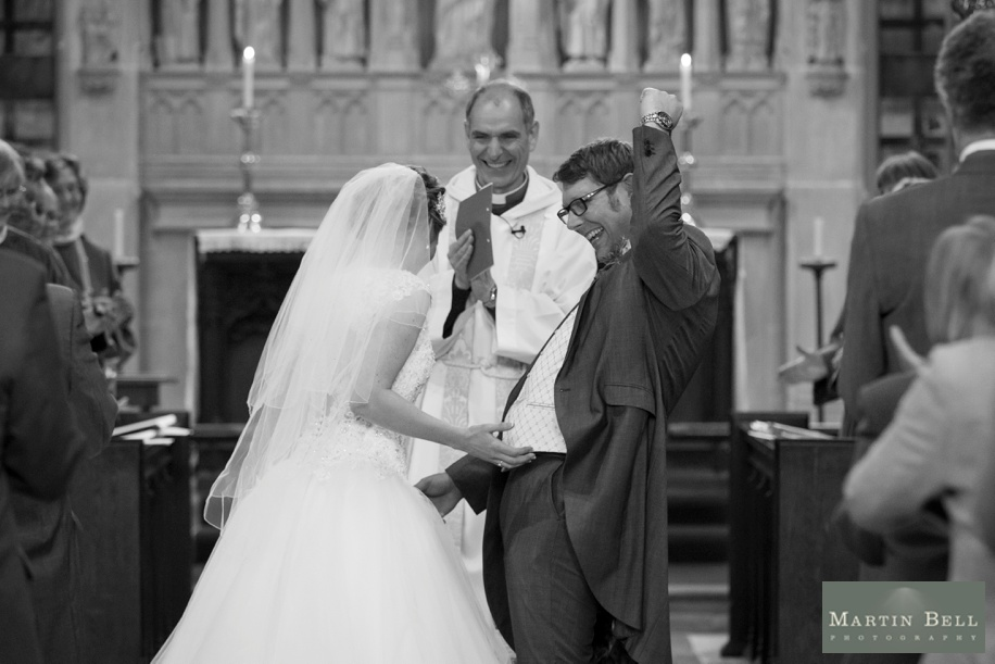 Wedding photographer Hampshire - St Thomas All Saints Church, Lyminton wedding ceremony
