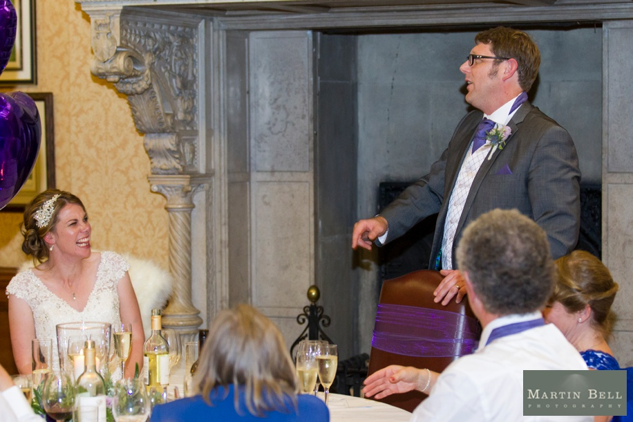 Speeches at an Elmers Court wedding