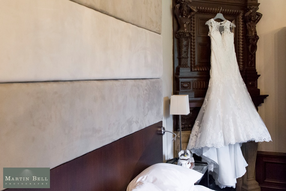 Rhinefield House Munroe Suite on a wedding day - Beautiful wedding dress