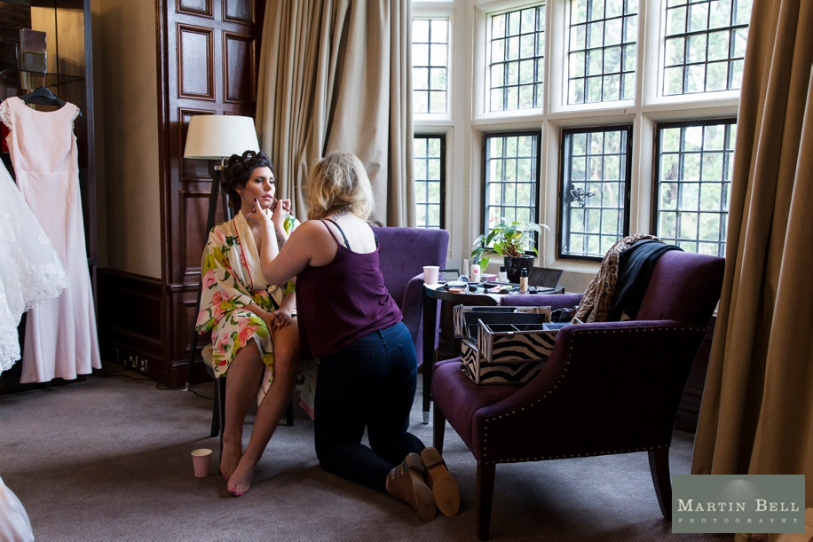 Rhinefield House Munroe Suite on a wedding day - Bridal preparations