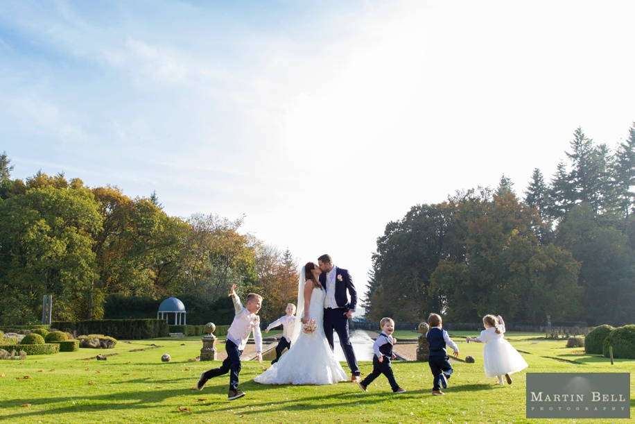 Wedding photographer Hampshire - Fun kids group photograph ideas - Rhinefield House wedding - Martin Bell Photography