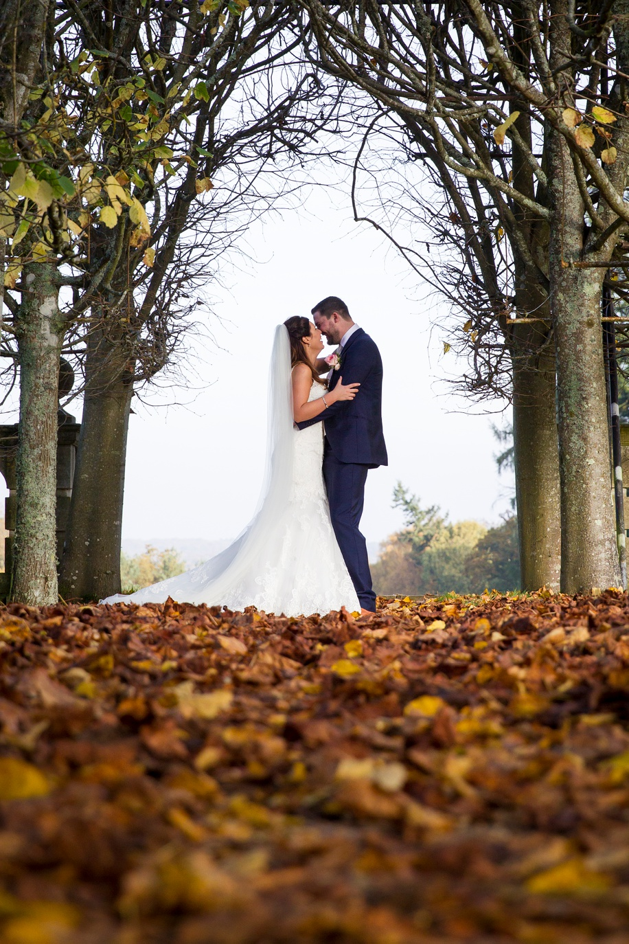 Autumn wedding photographs at Rhinefield House in the New Forest by Hampshire wedding photographer - Martin Bell Photography