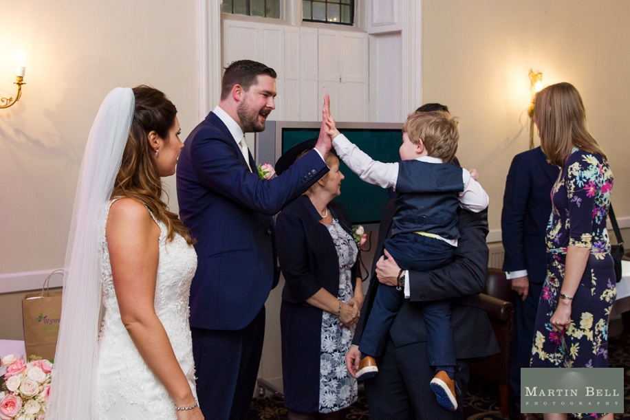 natural photographs of a receiving line at Rhinefield House