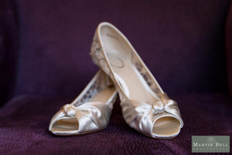 Gorgeous satin wedding shoes
