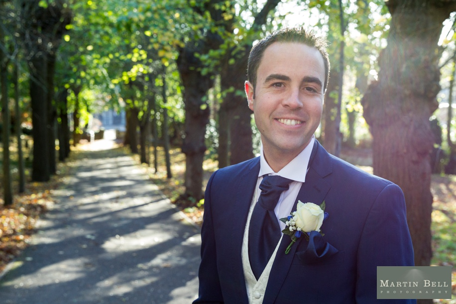 Cool and contemporary Groom portrait