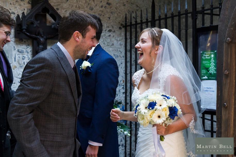 Happy Bride on her wedding day - Rhinefield House wedding photographeer