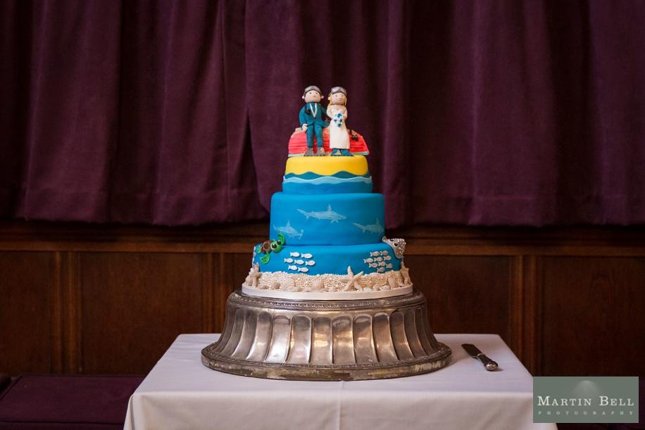 Scuba diving themed cake ideas