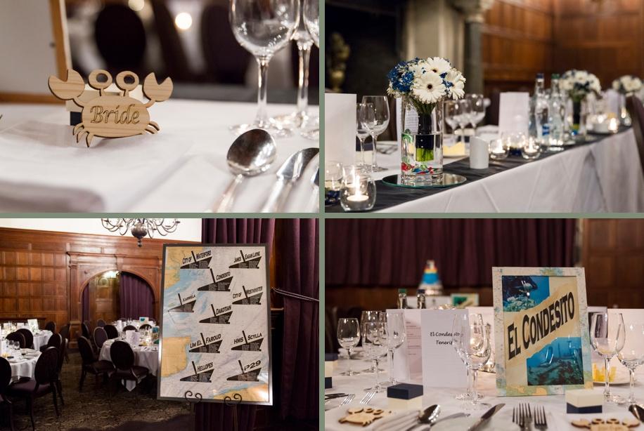 Scuba diving themed wedding detail ideas