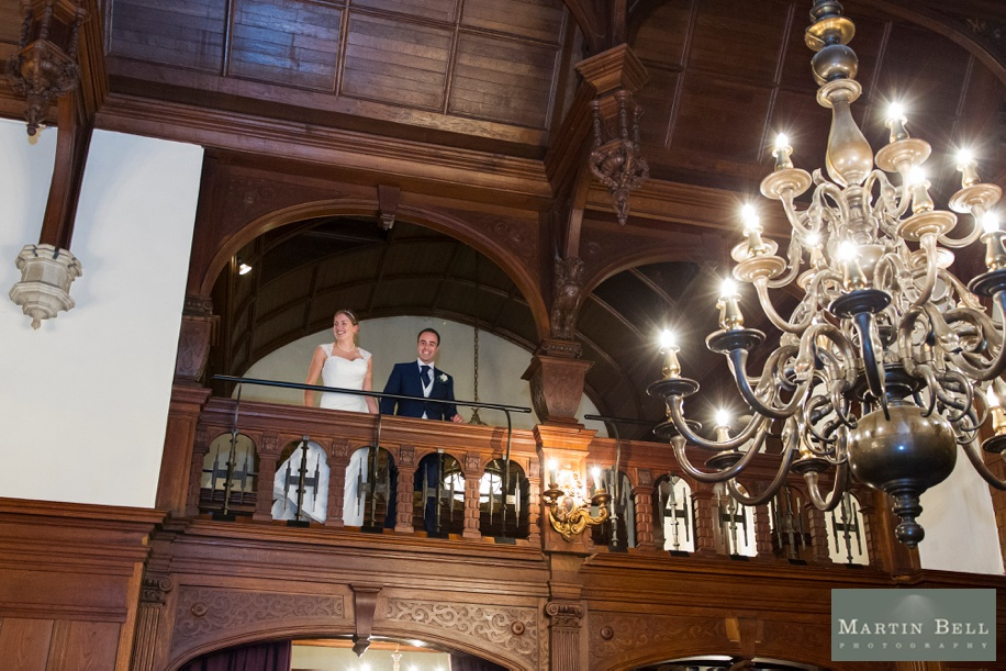 Grand entrance at a Rhinefield House wedding