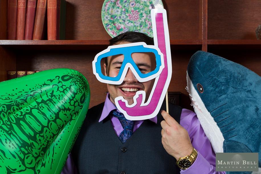 Fun photo both ideas - Deep sea theme - Rhinefield House wedding photographs