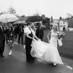 Documentary wedding photographs in Hartley Wintney - Berkshire